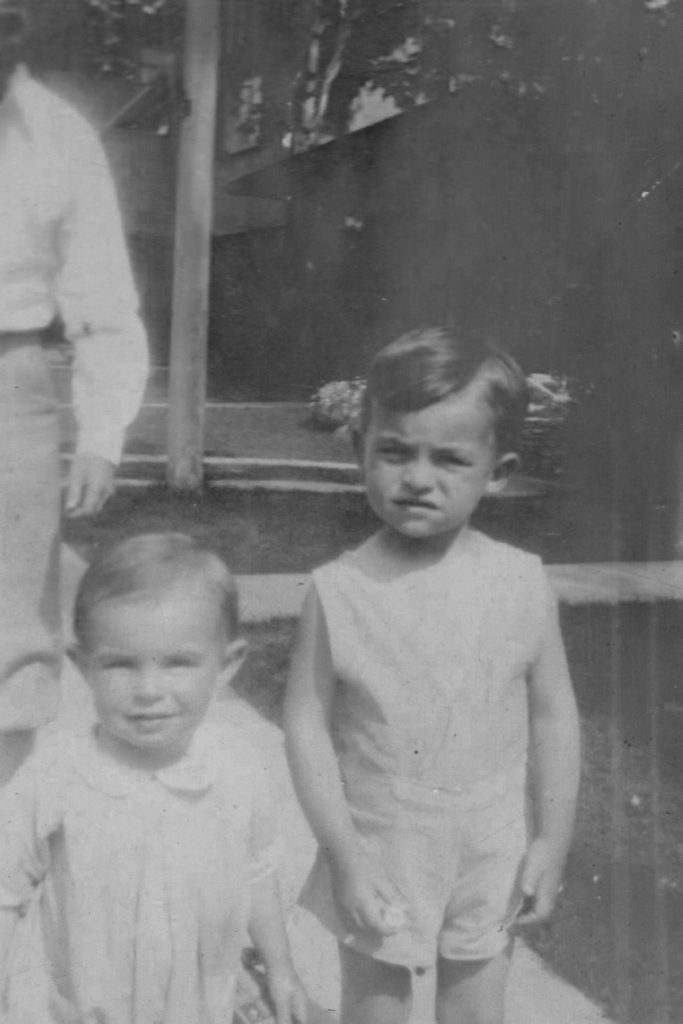 Photo of Harley Warner and Joe Warner aged under four